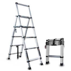 奥鹏 梯子家用伸缩折叠人字梯加厚多功能楼梯铝合金五步工程梯子 299元