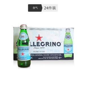 S.PELLEGRINO 圣培露 含气天然矿泉水 250ml*24瓶 108.92元(需用券)