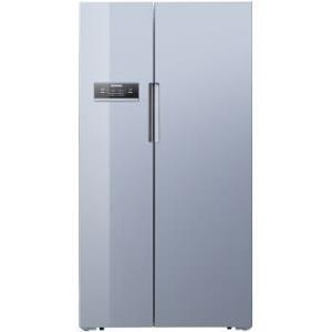 西门子(SIEMENS)608升 变频风冷对开门冰箱 玻璃面板双循环 (欧若拉银) BCD-608W(KA92SE9DTI) 8699元