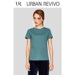 UR2018夏季新品女装合身圆领短袖棉质基础款休闲T恤WB17B4EF2001 39元
