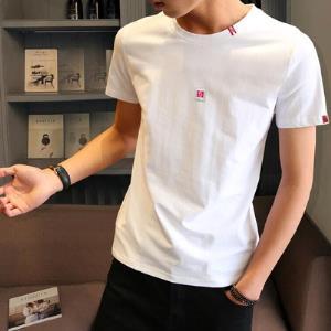 2019男士短袖t恤圆领修身上衣夏季韩版纯棉内搭白体恤男装半袖潮  券后19元