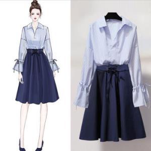 新款时尚连衣裙 两件套 139元