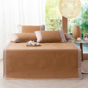 多喜爱(Dohia)凉席折叠清凉仿藤席三件套一抹清晨1.5米床150*200cm 99元