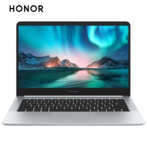 荣耀MagicBook 2019 14英寸轻薄窄边框笔记本电脑(AMD锐龙5 3500U 8G 512G FHD IPS 指纹解锁)冰河银 4299元