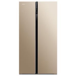 康佳(KONKA)601升薄壁对开门冰箱风冷无霜LED电脑温控双开门冰箱金色面板BCD-601WEGX5S2199元