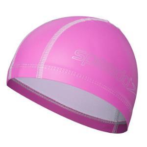 速比涛speedo 儿童泳帽 PU游泳帽涂层 柔软舒适可爱 男女童 深桃红 均码 8720731341 *4件160元(合40元/件)