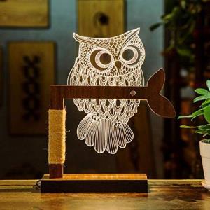 赞居 欧美新款护眼创意3D 创意小夜灯 可定制尺寸 (猫头鹰) 109元