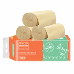 觅俏  无芯卷纸原生竹浆本色妇婴卫生纸擦手纸家用厕纸巾 *4件 41.6元(需用券,合10.4元/件)