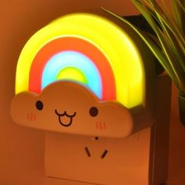 约帅 彩虹 LED 小夜灯 插电光控  16.9元包邮