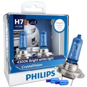 PHILIPS 飞利浦 水晶之光新银战士H7升级型汽车灯泡 +凑单品 104元包邮