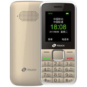 天语(K-TOUCH)Q21移动/联通2G直板按键双卡双待老人手机学生备用功能机金色 69元