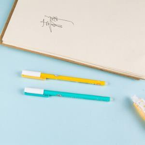 晨光(M&G)惹不起系列0.5mm热可擦蓝色全针管中性笔水笔签字笔 12支/盒AKP68420 *5件 62.75元(合12.55元/件)