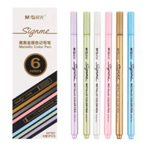晨光(M&G)赛美6种金属色记号笔手工贺卡笔6支/盒APMW7507 *5件 25.25元(合5.05元/件)