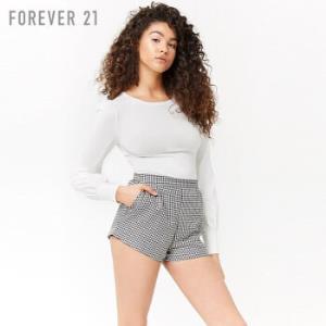 forever21 2000267371 棉质纯色圆领灯笼长袖上衣女 奶油色 S    低至30.8元