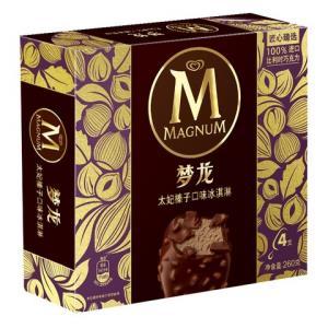 和路雪梦龙太妃榛子口味冰淇淋家庭装65g*4支雪糕(新老包装随机发货)*4件 87元(合21.75元/件)