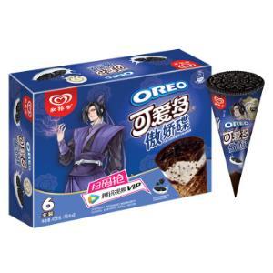 和路雪可爱多甜筒傲娇碟奥利奥巧克力风味香草口味冰淇淋家庭装76g*6支雪糕(新老包装随机发货)*4件 86.08元(合21.52元/件)