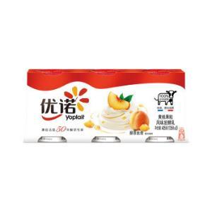 优诺 优丝 风味发酵乳 黄桃果粒酸奶酸牛奶 135g*3 *8件+凑单品109.92元(合13.74元/件)
