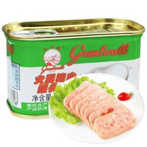 长城(GreatwallBRAND)午餐肉小白猪火腿猪肉罐头火锅泡面早餐搭档198g14.22元