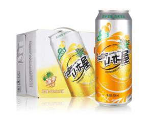汉斯小木屋果啤碳酸饮料500ml*12听整箱菠萝啤*2件67元(合33.5元/件)