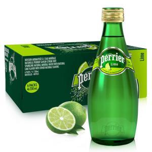 巴黎水(Perrier)天然气泡矿泉水(青柠味)玻璃瓶装 330ml*24瓶/箱 进口饮用水 法国进口105元