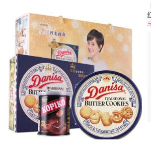 Danisa皇冠丹麦曲奇精选礼盒装908g*2件+凑单品135.2元(合67.6元/件)