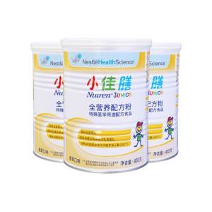 Nestle Health Science 雀巢健康科学小佳膳全营养配方粉(1-10岁) 400g*3罐装335元(需用券)