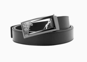 移动端:VersaceCollection男士镂空美杜莎板扣腰带 336元(拼团价)