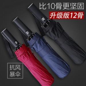 安布安奇 12骨全自动超大雨伞 105cm 3色可选29.9元包邮(需用券)