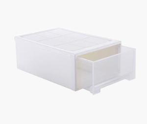 百露塑料抽屉式收纳柜收纳柜鞋盒储物柜衣物整理箱中号加厚单个*3件68.5元(合22.83元/件)