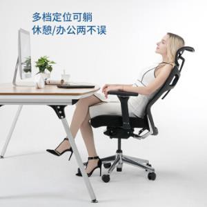 永艺/UE人体工学电脑椅子办公椅老板转椅电竞椅家用网布透气座椅可躺TICEN黑色    1099元