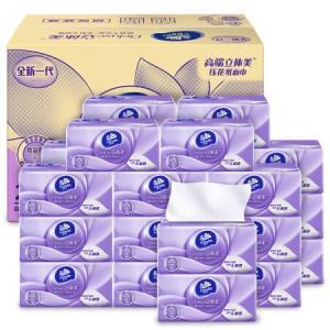 维达(Vinda)抽纸立体美3层108抽软抽*24包(小规格母婴可用)整箱销售*4件    161.6元(合40.4元/件)