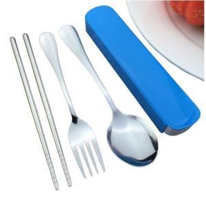 绿盒子不锈钢筷勺叉子三件套 8.8元