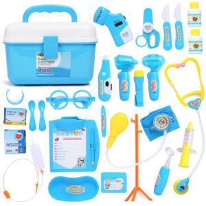 爸爸妈妈(babamama)医生玩具25件套装过家家儿童带光电B1001蓝色*3件 147元(合49元/件)