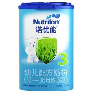 诺优能婴幼儿配方奶粉中文版牛栏奶粉 3段800g*1罐140元