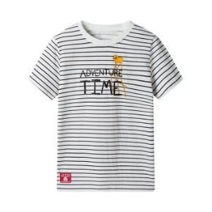三枪童装儿童短袖T恤 卡通IP系列 男童女童中大童圆领打底短袖衫 2C037A1 探险活宝-黑白条 14019.33元