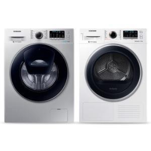 SAMSUNG 三星 9公斤滚筒洗衣机 9公斤干衣机组合 WW90K5410US/SC DV90M5200QW/SC7744元
