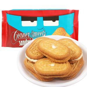 印尼进口 卡乐米斯 Corner Meets 夹心饼干 休闲零食 香草味 300g/袋 *2件25.2元(合12.6元/件)