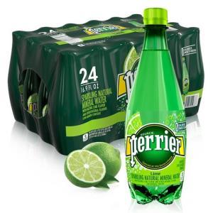 巴黎水(Perrier)天然气泡矿泉水(青柠味)塑料瓶装 500ml*24瓶/箱 进口饮用水 法国进口99元