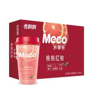 香飘飘奶茶 Meco蜜谷 果汁茶 桃桃红柚口味400ml 15杯 *2件146.2元(合73.1元/件)