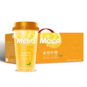 香飘飘奶茶 Meco蜜谷 果汁茶 金桔柠檬口味400ml 8杯 水饮果汁茶 *2件79.74元(合39.87元/件)