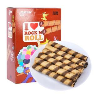 印尼进口日清(NISSIN)巧克力香蕉味卷心酥(注心饼干)180g*5件    44.5元(合8.9元/件)