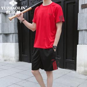俞兆林夏季潮男短袖健身运动套装 券后49元