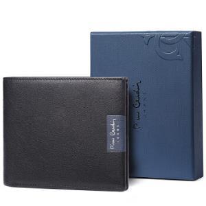 皮尔卡丹(pierre cardin)钱包男士短款头层牛皮商务钱夹多卡位横款皮夹子 J7A509-640101A黑色307.2元