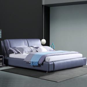 真皮床1.8米头层真皮 软床双人床3660元