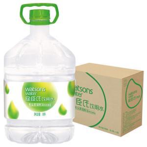 屈臣氏(Watsons)饮用水(蒸馏制法)8L*2桶 整箱 *3件124.08元(合41.36元/件)