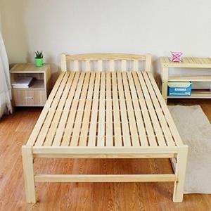 实木无油漆可折叠单人床松木午睡床简易木板床午休床儿童硬板床客人临时床实木小床 (70cm宽度) 249元
