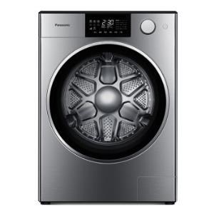 松下Panasonic10公斤阿尔法全自动滚筒洗衣机BLDC变频光动银除菌智能APP保时捷设计XQG100-P1拉丝银 13688元