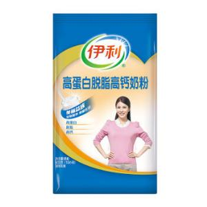 伊利高蛋白脱脂高钙奶粉单袋400g*3件 51.52元(合17.17元/件)