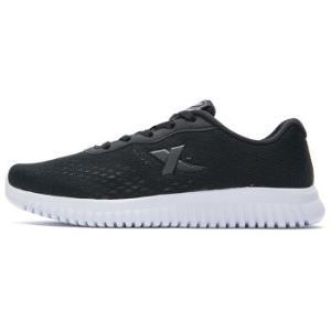 特步女子跑鞋新款轻便舒适耐磨防滑潮流简约时尚女运动鞋982218117008 黑 38码 73.2元