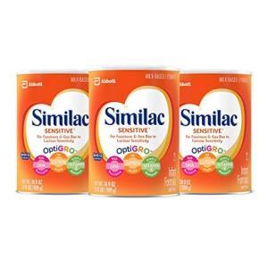 Similac 雅培 Sensitive 低敏配方婴幼儿含铁奶粉,2.18磅(989g)(3罐装) 643元